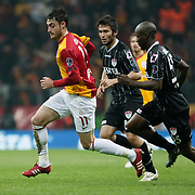 Galatasaray's Albert Riera Ortega (L) during their Turkish Super League soccer match Galatasaray between Manisaspor at the TT Arena at Seyrantepe in Istanbul Turkey on Wednesday, 21 December 2011. Photo by TURKPIX