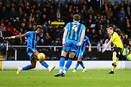 Burton Albion midfielder Jamie Allen (4) shoots during the EFL Sky Bet League 1 match between Burton Albion and Gillingham at the Pirelli Stadium, Burton upon Trent, England on 12 January 2019.