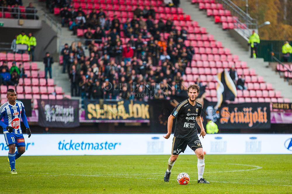 SJK:n Mehmet Hetemaj miesten Suomen Cupin finaalissa SJK-HJK. Ratinan stadion, Tampere, Suomi. 24.9.2016.