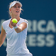 August 21, 2014, New Haven, CT:<br /> Alison Riske serves during a match against Magdalena Rybarikova on day seven of the 2014 Connecticut Open at the Yale University Tennis Center in New Haven, Connecticut Thursday, August 21, 2014.<br /> (Photo by Billie Weiss/Connecticut Open)