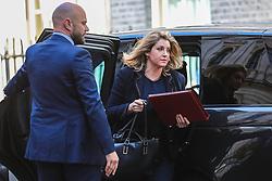 © Licensed to London News Pictures. 14/05/2019. London, UK. Secretary of State for Defence Penny Mordaunt returns to 10 Downing Street for a meeting of the National Security Council. Photo credit: Rob Pinney/LNP