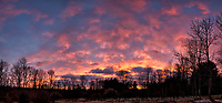 Colored Clouds at Sunset. Composite of six images taken with a Leica CL camera and 18 mm f/2.8 lens (ISO 100, 18 mm, f/2.8, 1/25 sec). Raw images processed with Capture One Pro and the composite created using AutoPano Giga Pro.