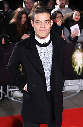 Rami Malek arriving at the UK Premiere of Lost City of Z, The British Museim, London.