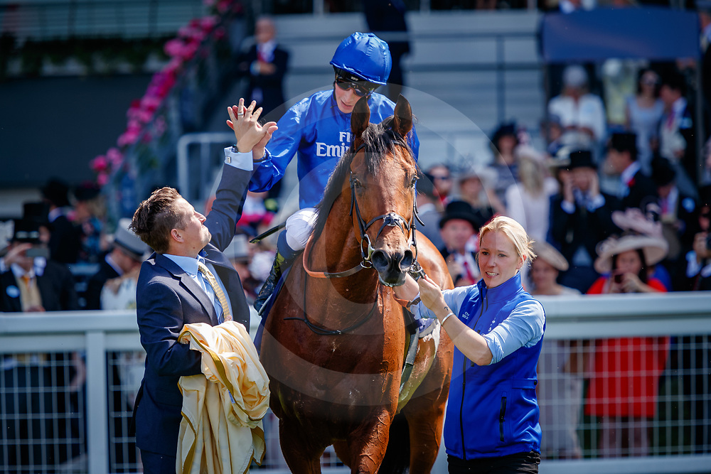 Old Persian (William Buick) wins The King Edward VII Stakes Gr.2 at Royal Ascot, 22/06/2018, photo: Zuzanna Lupa
