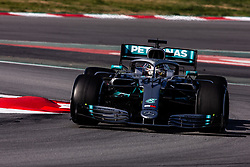 February 28, 2019 - Montmelo, BARCELONA, Spain - Lewis Hamilton of Great Britain with 44 Mercedes AMG Petronas Motorsport W10 in action during the Formula 1 2019 Pre-Season Tests at Circuit de Barcelona - Catalunya in Montmelo, Spain on February 28. (Credit Image: © AFP7 via ZUMA Wire)
