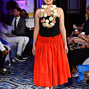 Dancer at the London Pacific Fashion Week 2019 at Royal Horseguards Hotel, on 13 September 2019, London, UK.