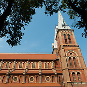 Side facade of Notre-Dame de Saigon cathedral, Ho Chi Minh