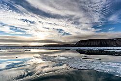 Palanderfjord in Svalbard, Norway