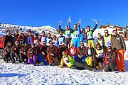 Gruppenfoto, Renzo's Schneeplausch vom 23. Januar 2016 in Vella, Gemeinde Lumnezia.