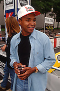 "WASHINGTON, DC - September 11: World Champion Boxer Sugar Ray Leonard participates in K-Mart's ""Race Against Drugs"" in Washington, DC. September 11, 1997  (Photo RIchard Ellis)"