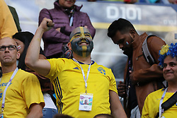July 3, 2018 - Russia - July 03, 2018, St. Petersburg, FIFA World Cup 2018 Football, the playoff round. Football match of Sweden - Switzerland at the stadium of St. Petersburg. Player of the national team fans; viewers; fans. (Credit Image: © Russian Look via ZUMA Wire)