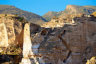 Ruins of the Ayyubids Small Palace in the citadel of ancient Hasankeyf overlooking the Tigris River. Turkey 14 .<br /> <br /> If you prefer to buy from our ALAMY PHOTO LIBRARY  Collection visit : https://www.alamy.com/portfolio/paul-williams-funkystock/hasankeyf-turkey.html<br /> <br /> Visit our PHOTO COLLECTIONS OF TURKEY HISTOIC PLACES for more photos to download or buy as wall art prints https://funkystock.photoshelter.com/gallery-collection/Pictures-of-Turkey-Turkey-Photos-Images-Fotos/C0000U.hJWkZxAbg