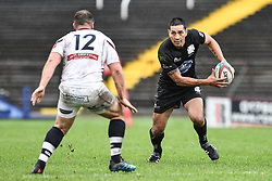 Regan King of Neath on the attack   - Mandatory by-line: Craig Thomas/Replay images - 22/09/2018 - RUGBY - St.Helens - Swansea, Wales - Swansea v Neath - Principality Premiership