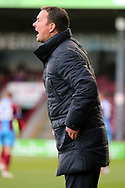 iPlymouth Argyll Manager Derek Adams during the EFL Sky Bet League 1 match between Scunthorpe United and Plymouth Argyle at Glanford Park, Scunthorpe, England on 27 October 2018. Pic Mick Atkins