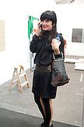 GOSHKA MACUGA , OPENING OF FRIEZE ART FAIR. Regent's Park. London.  12 October 2011. <br /> <br />  , -DO NOT ARCHIVE-© Copyright Photograph by Dafydd Jones. 248 Clapham Rd. London SW9 0PZ. Tel 0207 820 0771. www.dafjones.com.