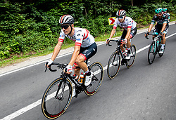 Jan Polanc (SLO) of UAE Team Emirates and Rui Oliveira (POR) of UAE Team Emirates during 1st Stage of 26th Tour of Slovenia 2019 cycling race between Ljubljana and Rogaska Slatina (171 km), on June 19, 2019 in  Slovenia. Photo by Vid Ponikvar / Sportida