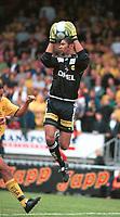 Keeper Emille Baron, Lillestrøm. Lillestrøm - Viking 0-1. Tippeligaen 2000. 23. juli 2000. (Foto: Peter Tubaas/Fortuna Media)