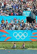 Eton Dorney, Windsor, Great Britain,..2012 London Olympic Regatta, Dorney Lake. Eton Rowing Centre, Berkshire.  Dorney Lake.  ..Final Women's Double Scull, GBR W2X, Bow Anna WATKINS and Katherine GRAINGER..13:13:08  Friday  03/08/2012 [Mandatory Credit: Peter Spurrier/Intersport Images]