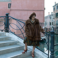 Woman posing in Venice
