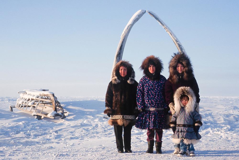 Barrow, Alaska. Four generations of Barrow residents: Georgiana Fischer , Carolyn and Gwen Edwardsen, and Jadyn.