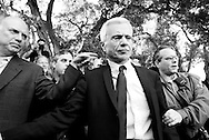 Actor Robert Blake, outside the Van Nuys Court House, at a press conference after acquitted of murder of his wife Bonnie Lee Bakley..He is with his family and defense team which includes his lawyer M. Gerald Schwartzbach.