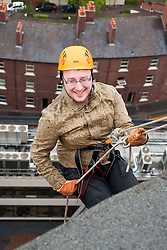 The Plusnet and Hill Dickinson Charity Abseil 111 feet down the Balance building in Sheffield to raise money for Roundabout and Saint Lukes Hospice on Wednesday <br /> <br /> 11 June 2013<br /> Image © Paul David Drabble<br /> www.pauldaviddrabble.co.uk