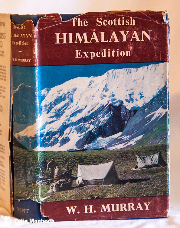 THE SCOTTISH HIMALAYAN EXPEDITION, W H Murray, Dent, London, 1st edn., 1951., VG hardback with torn though scarce jacket, colour plates, climbs in Panch Chuli peaks -  Garhwal/Kumoan region of NW India, Scarce $NZ120