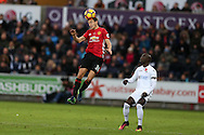 Matteo Darmian of Manchester Utd (l) in action. Premier league match, Swansea city v Manchester Utd at the Liberty Stadium in Swansea, South Wales on Sunday 6th November 2016.<br /> pic by  Andrew Orchard, Andrew Orchard sports photography.
