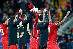 October 18, 2017 - Moscow, Russia - October 17, 2017. Russia, Moscow, Otkritie Arena Stadium. Spartak's players in the 2017/18 UEFA Champions League's group stage match between Spartak (Moscow, Russia) and Sevilla FC  (Credit Image: © Russian Look via ZUMA Wire)