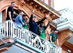 Nottinghamshire celebrate winning the Royal London One-Day cup from their balcony in the pavilion at Lords - Mandatory by-line: Robbie Stephenson/JMP - 01/07/2017 - CRICKET - Lord's Cricket Ground - London, United Kingdom - Nottinghamshire v Surrey - Royal London One-Day Cup Final 2017