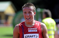 Nordisk Landskamp i friidrett<br /> Junior<br /> Fana Stadion<br /> 16. August 2008<br /> 400 m<br /> Martin Loftås Kåstad . Norge<br /> Foto : Astrid M. Nordhaug