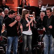 NLD/Haarlem/20121002- Opname AVRO's programma Maestro, Brecht van Hulten, Llenette van Dongen, Wolter Kroes, Joep Sertons