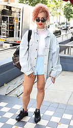 Raye arrives at a studio in west London, to help with the recording of a charity single after Simon Cowell pledged to record a new track within the next few days to help raise funds for those affected by the Grenfell Tower fire.