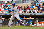 Billy Butler #16 of the Kansas City Royals bats against the Minnesota Twins on June 27, 2013 at Target Field in Minneapolis, Minnesota.  The Twins defeated the Royals 3 to 1.  Photo by Ben Krause