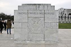 THEMENBILD - Das World War II Memorial ist das neuste Memorial auf der National Mall. Reisebericht, aufgenommen am 12. Jannuar 2016 in Washington D.C. // The World War II Memorial is the newest Memorial on the National Mall. Travelogue, Recorded January 12, 2016 in Washington DC. EXPA Pictures © 2016, PhotoCredit: EXPA/ Eibner-Pressefoto/ Hundt<br /> <br /> *****ATTENTION - OUT of GER*****