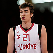 Turkey's izzet Turkyilmaz  during their Adidas Istanbul Cup 2012 Final basketball match Turkey between Finland at the Abdi ipekci Arena in Istanbul Turkey on Thursday 02 August 2012. Photo by TURKPIX