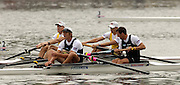 Poznan, POLAND.  2006, FISA, Rowing World Cup, NZL M2- bow Nathan TWADDLE and George DRINKWATER, forground, AUS M2- Duncan FREE and  Drew GINN, men's pair  final  on the   'Malta Regatta course;  Poznan POLAND, Sat. 17.06.2006. © Peter Spurrier   ....[Mandatory Credit Peter Spurrier/ Intersport Images] Rowing Course:Malta Rowing Course, Poznan, POLAND