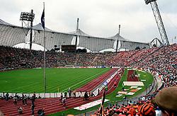 25-06-19988 VOETBAL: EK VOETBAL: DUITSLAND<br /> Nederland Europees Kampioen , publiek, Oranje, Scorebord<br /> ©1988-WWW.FOTOHOOGENDOORN.NL