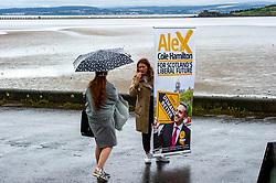 Pictured: Alex Cole-Hamilton<br />Scottish Liberal Democrat MSP Alex Cole-Hamilton outlined his bid for the leadership post agt a wet Edinburgh shoreline. <br />Ger Harley | EEm 28 July 2021