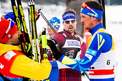 January 6, 2018 - Val Di Fiemme, ITALY - 180106 Sergey Ustiugov of Russia and Alexey Poltoranin of Kazakhstan after men's 15km mass start classic technique during Tour de Ski on January 6, 2018 in Val di Fiemme..Photo: Jon Olav Nesvold / BILDBYRN / kod JE / 160123 (Credit Image: © Jon Olav Nesvold/Bildbyran via ZUMA Wire)