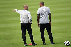 September 4, 2018 - Tubize, Belgique - Roberto Martinez, manager of the Belgium national football team and Thierry Henry ass. coach of Belgian Team (Credit Image: © Panoramic via ZUMA Press)