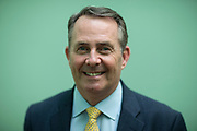 Mar0077713 . Daily Telegraph<br /> <br /> DT News<br /> <br /> Dr Liam Fox MP and Secretary of State for International Trade photographed at the Foreign Office .<br /> <br /> London 23 June 2017