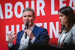 © Licensed to London News Pictures. 13/02/2020. London, UK. Sir Keir Starmer speaking at the Jewish Labour Movement (JLM) Labour Party leadership hustings held at the Liberal Jewish Synagogue in St John's Wood. The JLM will announce its leadership nomination on Friday February 14th. Photo credit: Vickie Flores/LNP