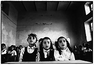 ZAKHO, KURDISTAN, IRAQ, 26.11.91.  Kurdish children attend primary school. The school is supplied by Unicef.  Due to the UN embargo against Iraq and an Iraqi blockade against Kurdistan, the economy is a disaster ©Photo by Frits Meyst/NewsImages