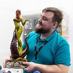 Figurines and fantasy figures are at the Toy Fair at Kensington Olympia in London, the UK's largest dedicated game and hobby exhibition featuring the hottest and most anticipated products for the year ahead. London, January 22 2019.