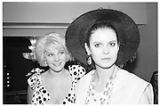 Janet Aston and Caroline Kellet, Piers Gaveston Ball, Park Lane Hotel 13.05.83© Copyright Photograph by Dafydd Jones 66 Stockwell Park Rd. London SW9 0DA Tel 020 7733 0108 www.dafjones.com