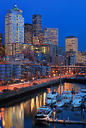 Seattle's iconic downtown market in the evening