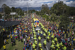July 5, 2018 - In the city of Bogotá, thousands of fans to the Colombia team welcomed him after losing the match against England in the fifteenth soccer world cup of 2018 (Credit Image: © Daniel AndréS GarzóN Heraz via ZUMA Wire)