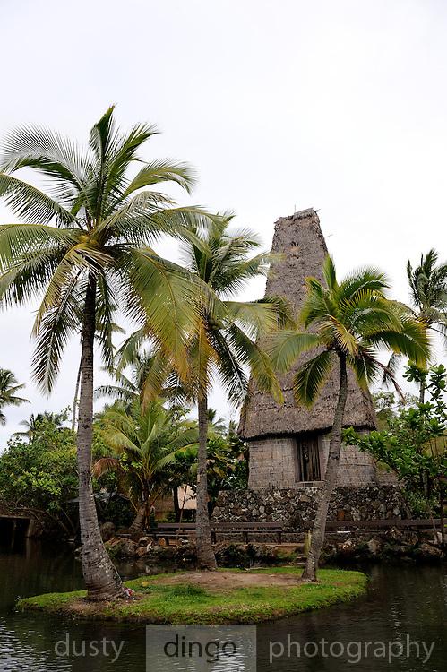 A bure kalou - traditional Fijian religious building.