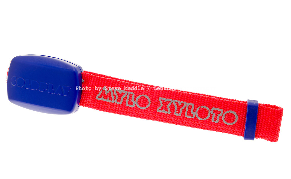Coldplay Xyloband, A radio controlled flashing light worn on the wrist and pulses to the music, As used on the X Factor Final at Wembley Arena - Dec 2011.